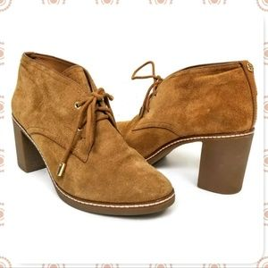 Tory Burch Leather Heeled Lace-up Booties 9.5